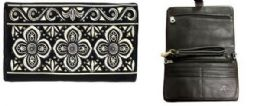 4 Bulk American Bling Floral Embroidery Clutch Sling Purse