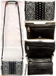 4 Bulk American Bling Embroidery Clutch Sling Purse