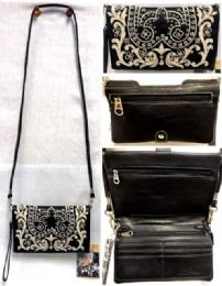 4 Bulk Black white Embroidered American Bling Clutch Purse