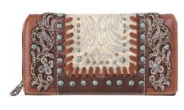 4 Bulk Floral Tooled Montana West Wallet Coffee