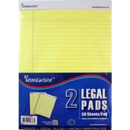 30 Bulk Canary Legal Pads