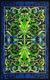 5 Bulk Hemp Leaf kaleidoscope Tapestry