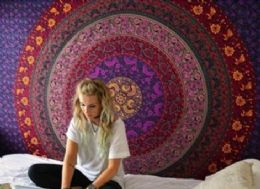 5 Bulk Purple Mandala Bohemian Graphic Tapestry