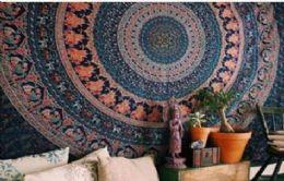5 Bulk Blue Mandala Bohemian Graphic Tapestry