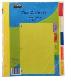 96 Bulk Index Dividers 5 Tab