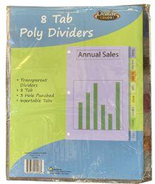 96 Bulk Poly Divider 8 Tab