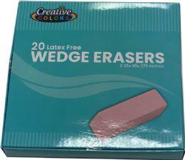 480 Bulk Pink Wedge Erasers