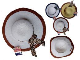 144 Bulk Women's 2-Tone Hat W/ Ribbon