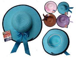 144 Bulk Women's Hat W/ Ribbon + Gem