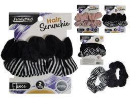 288 Bulk Hair Ties 2pc Scrunchie Soft