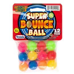 24 Bulk Mini Super Bounce Balls - 12 Piece Set