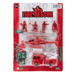 36 Bulk Fireman Rescue Play Set - 8 Piece Set