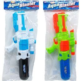 """12 Bulk 22"""" WATER GUN W/ PUMP ACTN IN POLY BAG W/HEADER, 2 ASST"""