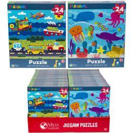 24 Bulk Puzzle 24pc Playskool 2 Titles In Pdq Size 10.3x9.1
