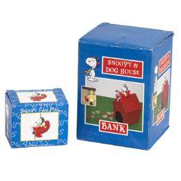 48 Bulk Snoopy & Dog House Bank Litho Boxed