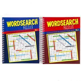 48 Bulk Puzzle Book Find A Word Spiral 80 Pg 2 Asstd Counter Disp #7409