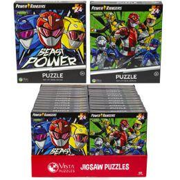 24 Bulk Puzzle 24pc Power Rangers 2 Titles In Pdq Size 10.3x9.1