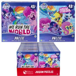 24 Bulk Puzzle 48pc My Little Pony 2 Titles In Pdq Size 10.3x9.1