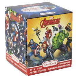 24 Bulk Facial Tissue 85ct Marvel Avengers 2ply White Boxed