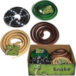 48 Bulk Snake Plastic 52in 4ast Styles In 24pc Pdq/ht