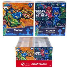 24 Bulk Puzzle 48pc Pj Mask 2 Titles In Pdq Size 10.3x9.1