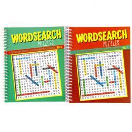 48 Bulk Puzzle Book Word Sea Spiral 80 Pg 2 Asstd Counter Dips #7410