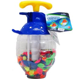 """12 Bulk 250 PC WATER BALLOONS IN 10"""" CONTAINER W/ PUMP"""