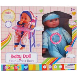 6 Bulk Baby Doll With Sound and Crib