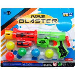 "72 Bulk 9.5"" PONG BLASTER W/ 5PC BALLS"