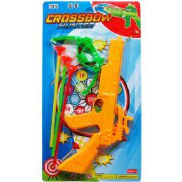 36 Bulk Crossbow Play Set With Soft Darts On Card