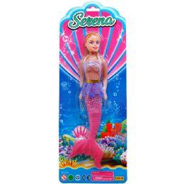 36 Bulk Mermaid Doll On Blister Card