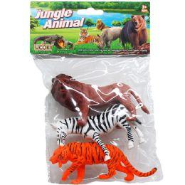 72 Bulk PLASTIC WILD ANIMALS
