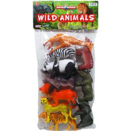 12 Bulk 10PC WILD TOY ANIMALS SET