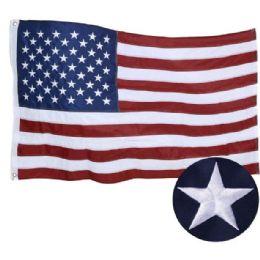 10 Bulk Embroidered American Flag