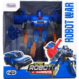 "12 Bulk 8"" TRANSFORMING ROBOT W/ ACCSS IN WINDOW BOX"