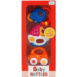 24 Bulk 3PC BABY RATTLE PLAY SET