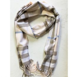 36 Bulk Wool Scarf In Assorted Color