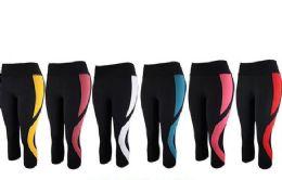 12 Bulk Womens Stretch Leggings In Assorted Colors