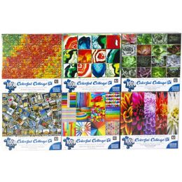6 Bulk Puzzle 1000pc Colorful Collages 6 Titles Size 27x20 See n2
