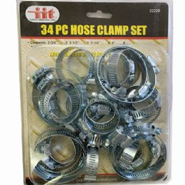 36 Bulk 34 Pieces Hose Clamp Set