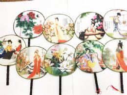 120 Bulk Chinese Round Fan Assorted Style