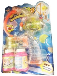 24 Bulk Bubbles Gun Toy With Lights With Sounds