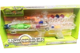 12 Bulk Toy Machine Laser Gun With Light And Sounds