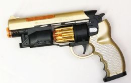 48 Bulk Toy Superior Pistol With Lights And Sounds