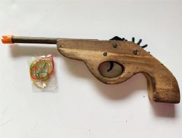 36 Bulk Wooden Gun Shutting Robber band