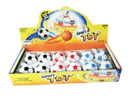 72 Bulk Soccerball Spin Toy with Lights And Sound