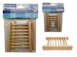144 Bulk 2pc Soap Holder Wooden