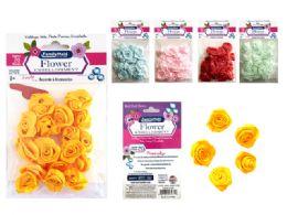 288 Bulk 20pc Flower Embellishments