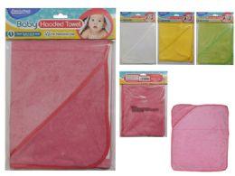 96 Bulk Baby Hooded Towel
