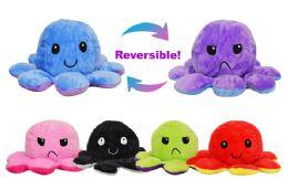 72 Bulk Reversible Plush Octopus